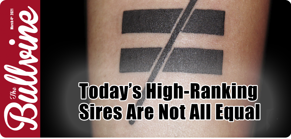 Today's High-Ranking Sires Are Not All Equal